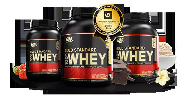 3 formatos de venta de 100 whey gold standard