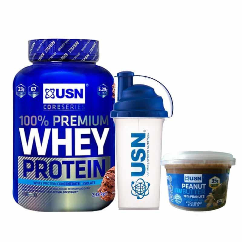 caracteristicas de 100% premium whey protein de usn
