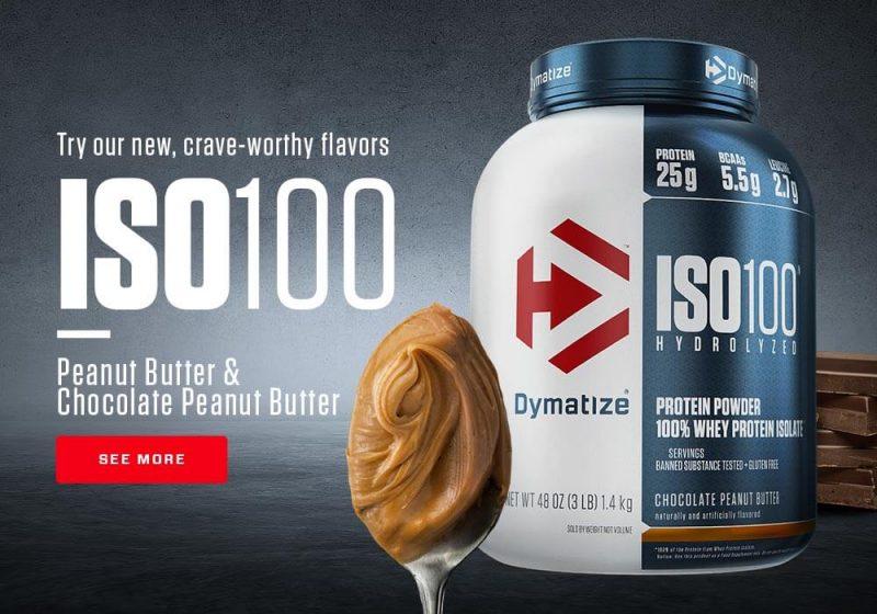 presentacion y sabores iso 100 hydrolyzed de dymatize